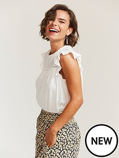 fatface-louise-woven-top-ivory