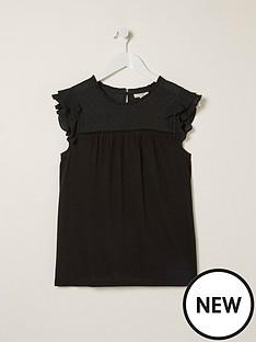 fatface-louise-woven-top-black