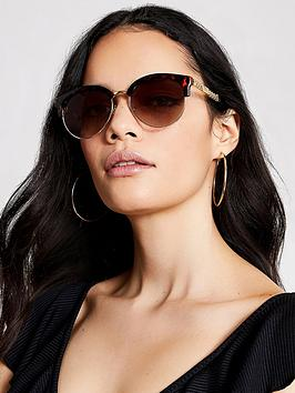 river-island-tortoiseshell-print-chain-trim-sunglasses-brown