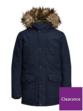 jack-jones-junior-boys-faux-fur-hooded-parka-navy