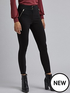 dorothy-perkins-zip-pocket-treggings--nbspblack