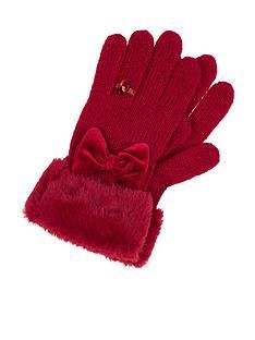 monsoon-girls-bow-diamond-ring-glove-red