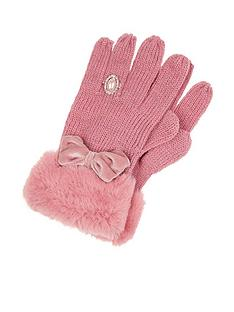 monsoon-girls-bow-diamond-ring-glove-pink