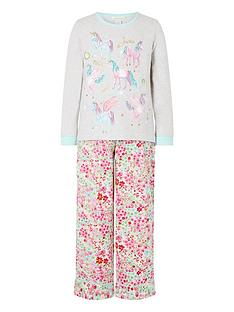 monsoon-girls-organic-unicorn-jersey-and-woven-pyjama-set-oatmeal