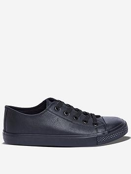 dorothy-perkins-wide-fit-pu-icon-trainers-black