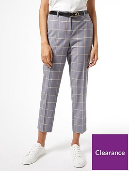 dorothy-perkins-grid-check-ankle-grazer-trousers-grey