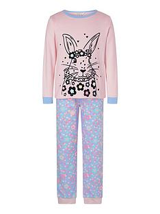 monsoon-girls-bunny-jersey-pyjama-set-pink
