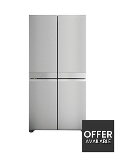 hotpoint-hq9m2luk-90cm-width-no-frost-american-style-multi-door-fridge-freezer-inox