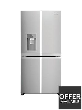 hotpoint-hq9imo1luk-90cm-width-no-frost-american-style-multi-door-fridge-freezer-inox