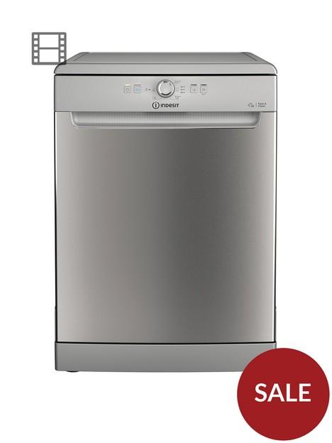 indesit-dfe1b19xuk-13-place-fullsize-dishwasher-silver