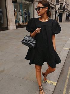 in-the-style-in-the-style-x-lorna-luxenbspexaggerated-puff-sleeve-peplum-hem-mini-dress-black