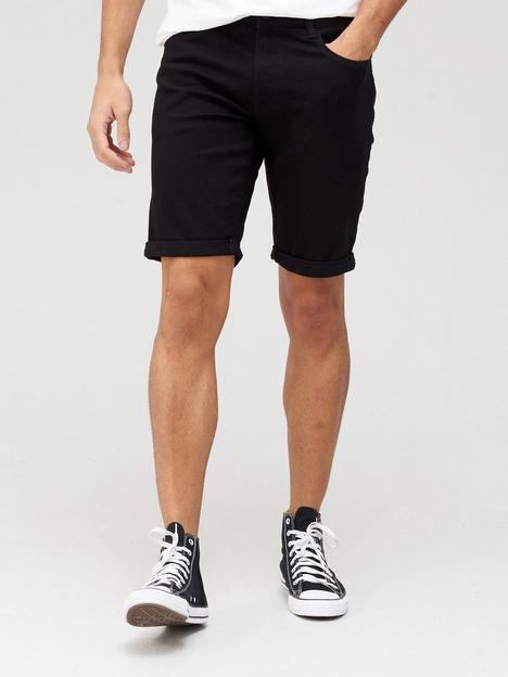 very-man-slim-denim-shorts-with-stretchnbsp--black