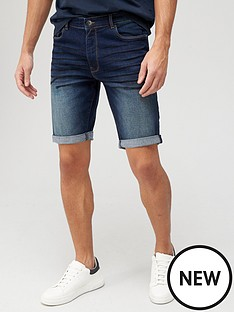 very-man-slim-denim-shorts-with-stretch-dark-wash