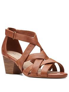 clarks-lorene-pop-leather-heeled-sandal-tan