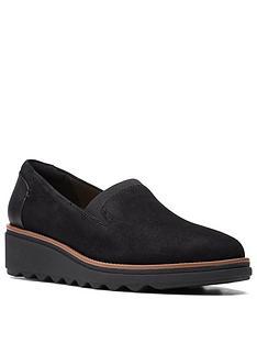 clarks-sharon-dolly-slip-on-wedge-shoe-black