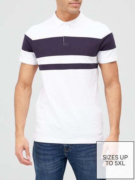 very-man-colour-block-polo-shirt-multi