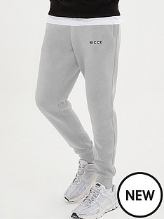 nicce-original-logo-joggers-stone-grey