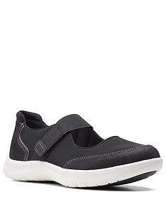 clarks-adella-west-flat-shoe-black