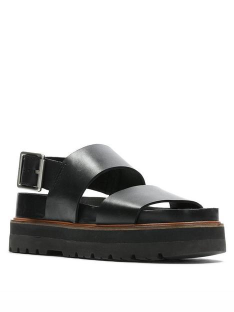 clarks-orianna-strap-leather-wedge-sandal-black