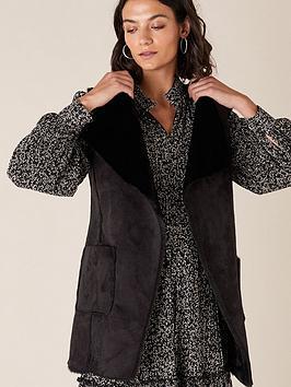 monsoon-suki-suedette-waistcoat-black