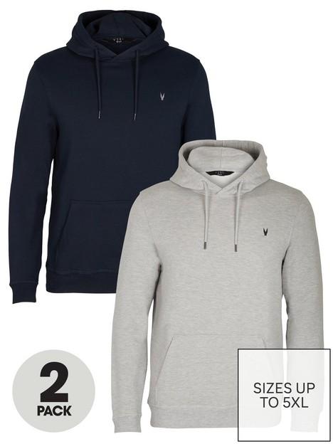 very-man-essential-2-pack-hoodie-navygrey-marlnbsp
