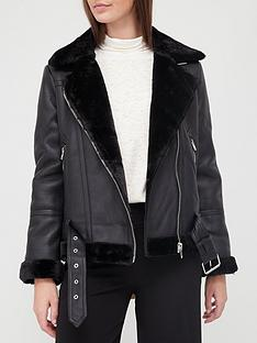 topshop-faux-leather-pu-aviator-biker-jacket-black