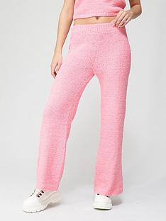 missguided-missguided-popcorn-wide-leg-trousers-co-ord-pink