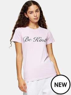 topshop-be-kind-t-shirt-pink