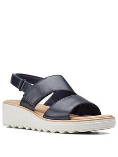 clarks-jillian-pearl-wegde-sandal-navy