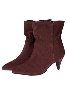 monsoon-ruched-suede-ankle-boot-burgundy
