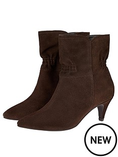 monsoon-ruched-suede-ankle-boots-chocolate