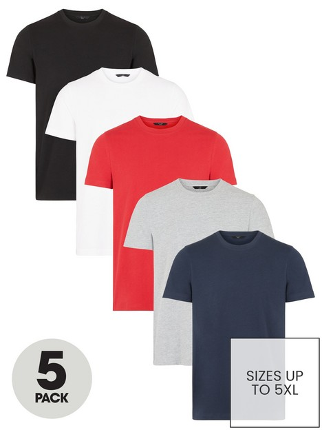 very-man-essential-5-pack-crew-t-shirt-black-white-red-grey-navy