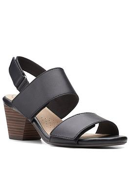 clarks-lorene-bright-leather-heeled-sandal-black