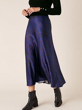 monsoon-animal-print-satin-skirt-blue
