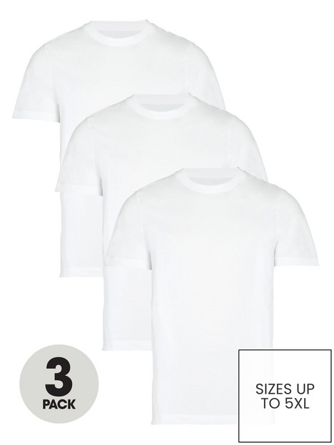 very-man-3-pack-of-essentialnbspcrew-t-shirt-white