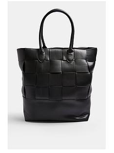 topshop-weave-tote-bag-black