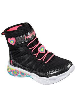 skechers-childrensnbspsweetheart-lights-boot-black