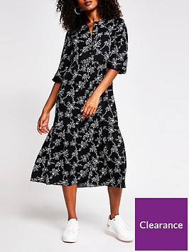 river-island-printed-smock-midi-dress-multi