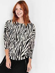 wallis-zebra-dolman-knitted-top--nbspblack