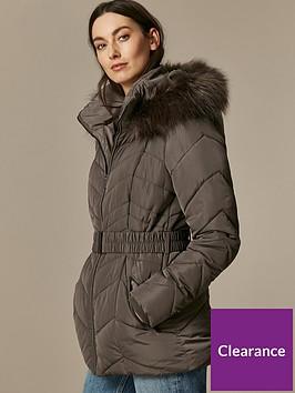 wallis-short-belted-chevron-padded-coat-mink