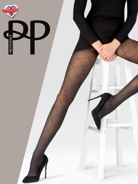 pretty-polly-sparkle-diamond-tights-blacksilver