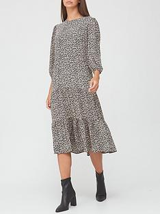 v-by-very-long-sleeve-tiered-midi-dress-floral