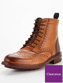 ted-baker-mensnbspbaellen-brogue-leather-boots-tan