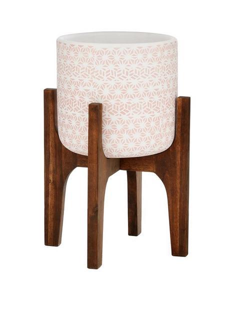 turkish-tile-planter-on-wooden-legs-pink