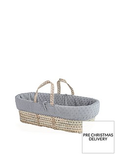 clair-de-lune-terry-dot-palm-moses-basket-with-padded-liner