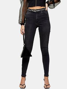 topshop-zip-hem-jamie-jeans--nbspblack