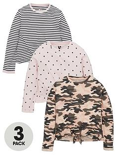 v-by-very-girls-tie-front-long-sleeve-3-pack-t-shirts-multi