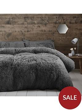 catherine-lansfield-cuddly-faux-fur-double-duvet-cover-set