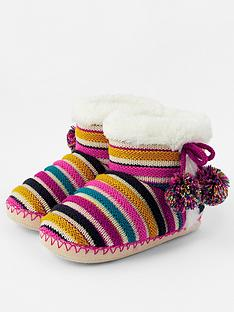 accessorize-girls-stripe-slipper-boots-multi
