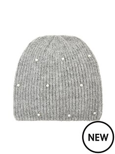 accessorize-girls-pearl-beanie-hat-grey